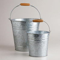 Galvanized Metal Pails | World Market