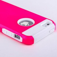 Amazon.com: ATC Pink Armor Defender Hybrid Silicone/PC Hard Back Case Skin for iPhone 5 + Free Screen Protector & Stylus: Everything Else
