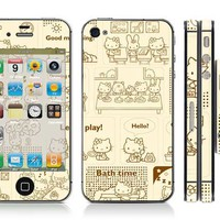 Free shipping vinyl decal stickers for iPhone 4 / iPhone 4S cover #0603