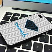 Chevron Blue Diamond Supply Co Iphone 4 Case  Iphone 4S Case