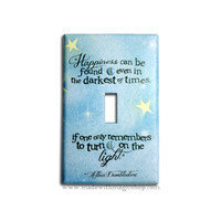 Turn On The Light  Wizard Inspired Switch Plate by mwithm on Etsy