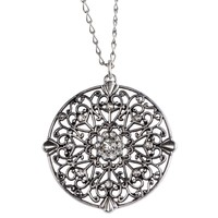 Circle Pendant Long-Strand Necklace -