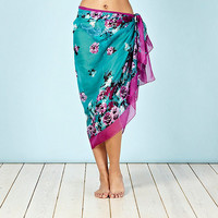 Green Vintage Flower Woven Sarong at debenhams.com