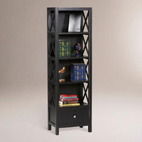 Antiqued Black Tall Easton Bookshelf | World Market