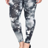 Black & White Cosmic Printed Leggings | Leggings
