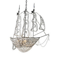 Sailing Ship Crystal Chandelier in Custom Colors - Chandeliers and Pendants - Lighting by Style - Lighting - PoshLiving