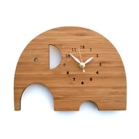 Elephant Clock  Modern Animal Wall Clock by decoylab on Etsy