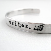 Custom Personlized Bracelet - Writer - pure aluminum cuff