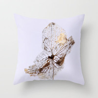 Delicate © Throw Pillow by JUSTART