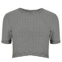 Stripe Knit Crop Top - Topshop