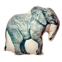 Fauna Elephant Mini Cushion - SFMPEL1 - Pillows, Blankets & Slipcovers - Decor