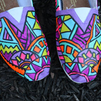 Custom FULL Tribal Print Toms by Chelmarca on Etsy