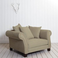 Melton XL Armchair in Cotton-Linen Mix