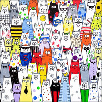 Cat art limited edition print &#x27;Pick and Mix&#x27; by DianaParkhouse