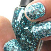 Blue Glitter Shinning Nail Lacquer 15ml from 1Point99.com