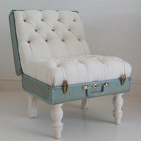 The Suitcase Chair  White Samsonite  Furniture  Recreate