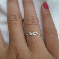 Mother's Day  Infinity Knot RIng by DesignedByLei on Etsy