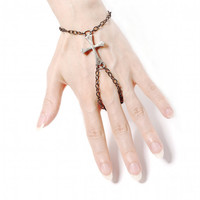 Gothic Slave Chain Bracelet  Faith  with by ghostlovejewelry