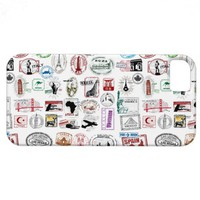 Travel Stamps Pattern Phone Case iPhone 5 Covers from Zazzle.com