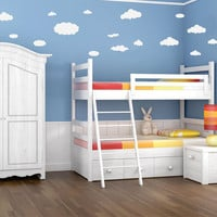 Clouds Kids Wall Decal 16 pcs set Vinyl Wall Art Graphic Sticker Childs Room Decor