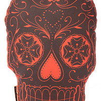 THE RISE AND FALL The Sugar Skull Pillow in Orange : Karmaloop.com - Global Concrete Culture