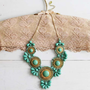 Bohemian Romance Necklace in Mint, Women's Sweet Country Inspired Jewelry