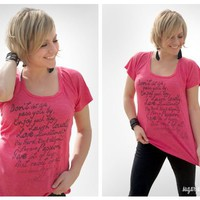 Stacey Quote Raglan Tee