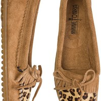 MINNETONKA LEOPARD KILTY MOCCASIN | Swell.com