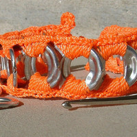 ReCycladelic Pop Top Bracelet DayGlo Orange Soda Can by lanmom