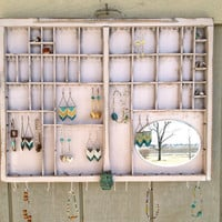 Light Rose Vintage Letterpress Jewelry Organizer