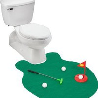 Amazon.com: EZ Drinker Toilet Golf - Putter Practice in the Bathroom Toy with this Potty Putter: Sports &amp; Outdoors