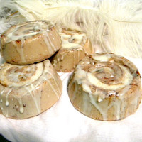 Luxury SoapFour Cinnamon Buns Dessert soap Novelty by DustDesigns