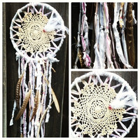 Dreamcatcher with feathers by TheLittleBigShop on Etsy