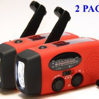 Amazon.com: 2-PACK HY-88E Emergency Dynamo Solar Self Powered AM/FM/WB(NOAA) Radio, Flashlight, Charger for Cell Phones: iPhone, iPad, iTouch, Android, Amazon Kindle, Smartphone, USB device: Electronics