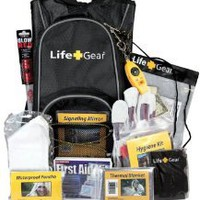 Life Gear LG492 Emergency Survival Kit Backpack w/Emergency Gear & First Aid Kit - Amazon.com