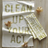 Phrase Tea Towels | west elm