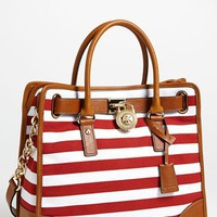 MICHAEL Michael Kors &#x27;Hamilton - Large&#x27; Canvas Tote | Nordstrom