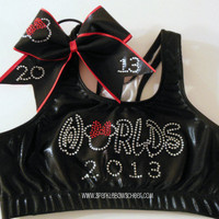 2013 Rhinestones Metallic Sports Bra and Bow Set Minnie Mouse