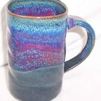 Amazon.com: Purple Peacock Pottery Coffee Mug: Kitchen & Dining