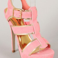 Rumble Open Toe T-Strap Platform Sandal