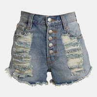 MINKPINK &#x27;Exposed Slasher Flick&#x27; High Waist Cutoff Shorts | Nordstrom