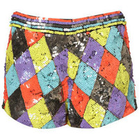 Harlequin Sequin Shorts by Dress Up Topshop** - New In This Week  - New In  - Topshop