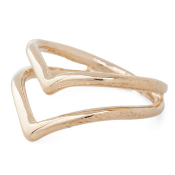 The V to Success Knuckle Ring
