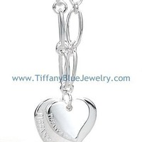 Find The Last Cheap Tiffany & Co Elsa Peretti Carved Double Heart Necklace In Tiffanybluejewelry.com