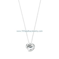 Find The Last Cheap Tiffany & Co Elsa Peretti Carved Heart Pendant Necklace In Tiffanybluejewelry.com