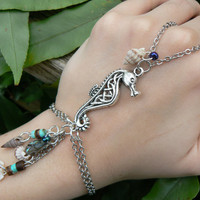 seahorse abalone slave bracelet seahorse seashells abalone heishi beads bohemian gypsy cruise wear high fashion gypsy boho hipster beach