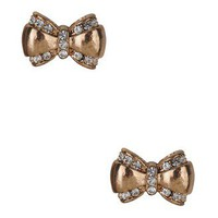 Rhinestoned Bow Studs