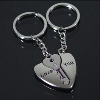 I love you letters key chain Creative gifts