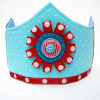 Child's Felt Birthday Dress Up Crown- Slushie Mash Up