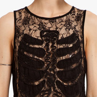 Rib In Lace Tank $35